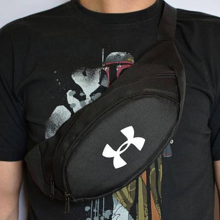 Поясная сумка, Бананка, барсетка андер армор, Under Armour. Черная, фото 2