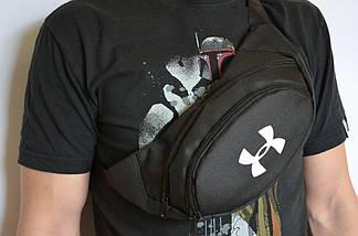 Поясная сумка, Бананка, барсетка андер армор, Under Armour. Черная, фото 3