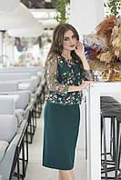 Красивое платье, имитация костюма, элегантно и красиво  р.42,44,46,48 код 422А
