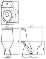 Компакт напольный, вертикальный, 3/6л, сиденье Duroplast Soft Close KOLO L39004000 Modo