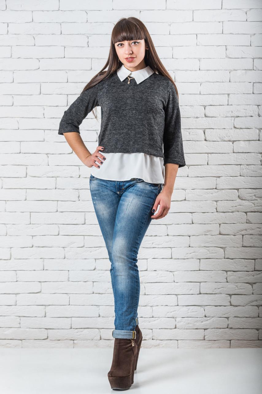 Женская блуза 42-48 графит