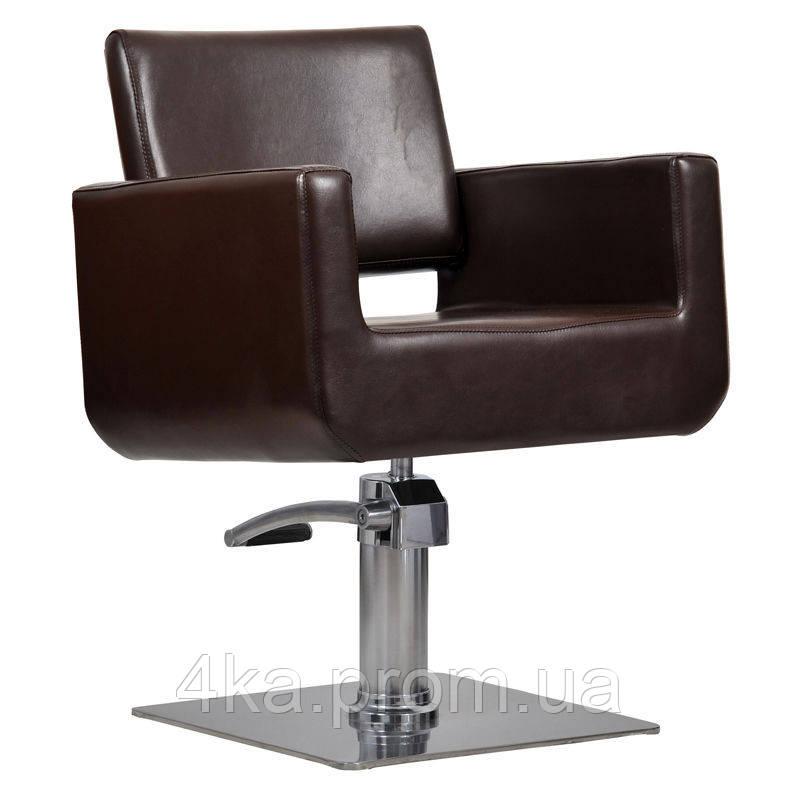 Перукарське крісло BELL, коричневий