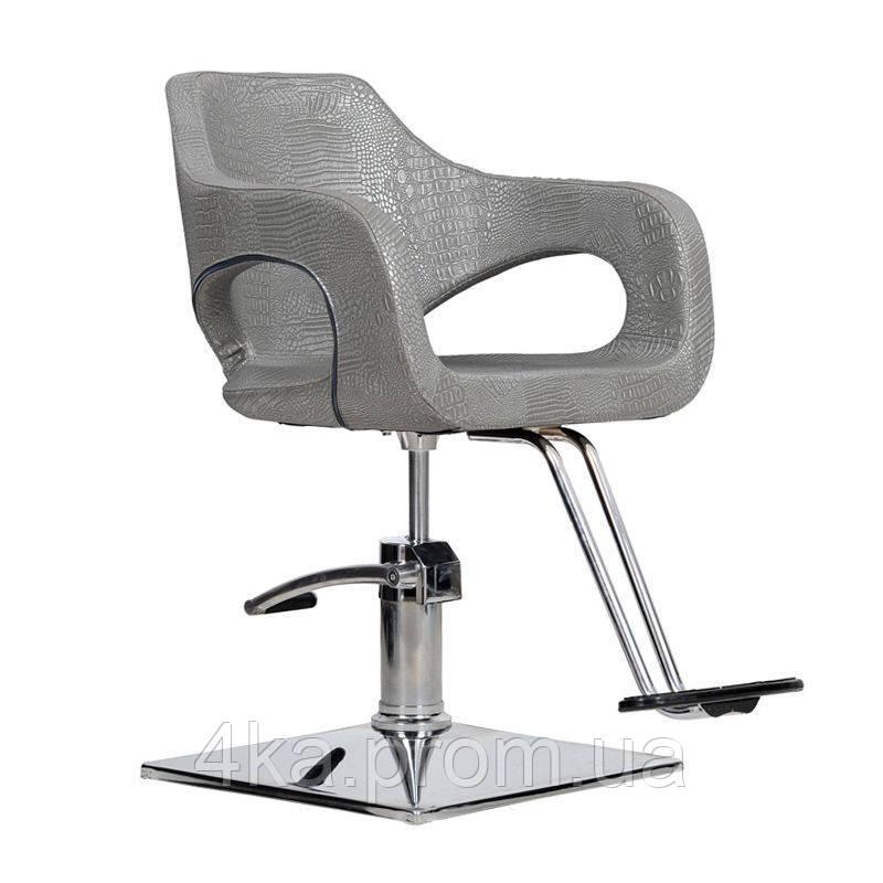 Перукарське крісло BRESSO, графітовий крокодил