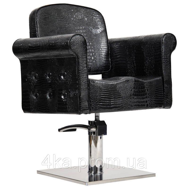 Перукарське крісло MIAMI, чорний крокодил