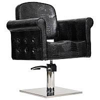 Перукарське крісло MIAMI, чорний крокодил, фото 1