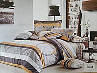 Сатиновое постельное белье семейное ELWAY 5034 «Абстракция»