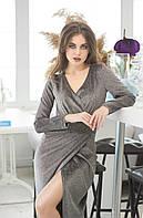 Платье на запах, отлично подчеркивает декольте и показывает шикарные ноги  р.42-44,46-48 код 423А