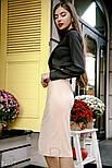 Класична блуза приталеного крою з ажурним декором, фото 2
