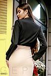 Класична блуза приталеного крою з ажурним декором, фото 4