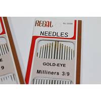 Иголки для ручного шитья (GOLD – EYE) Milliners 3/9 (ассорти, 16 игл)