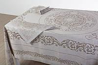 """Льняной столовый комплект """"Классический"""" на 6 персон (скатерть 170 на 245 см)"""