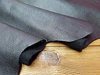 Кожа натуральная спилок покрывной Флотар плотный т.1-1,2мм цвет черный