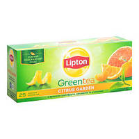 Чай зелёный в пакетиках Lipton Citrus Garden Green 2 г х 25 шт