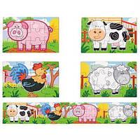 """Набір пазлів Viga Toys """"Ферма"""", 48 елементів (50069), фото 1"""