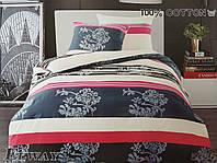 Сатиновое постельное белье семейное ELWAY 5036 «Абстракция»
