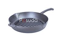 Сковорода гриль чугунная круглая Биол 24 см 1124, фото 1