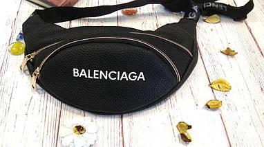 Стильная женская поясная сумочка, бананка Balenciaga, баленсиага. Черная. Турция., фото 2