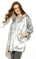 Женская куртка-парка Gusun Zaps серебристого цвета. Коллекция весна-лето 2020, фото 1