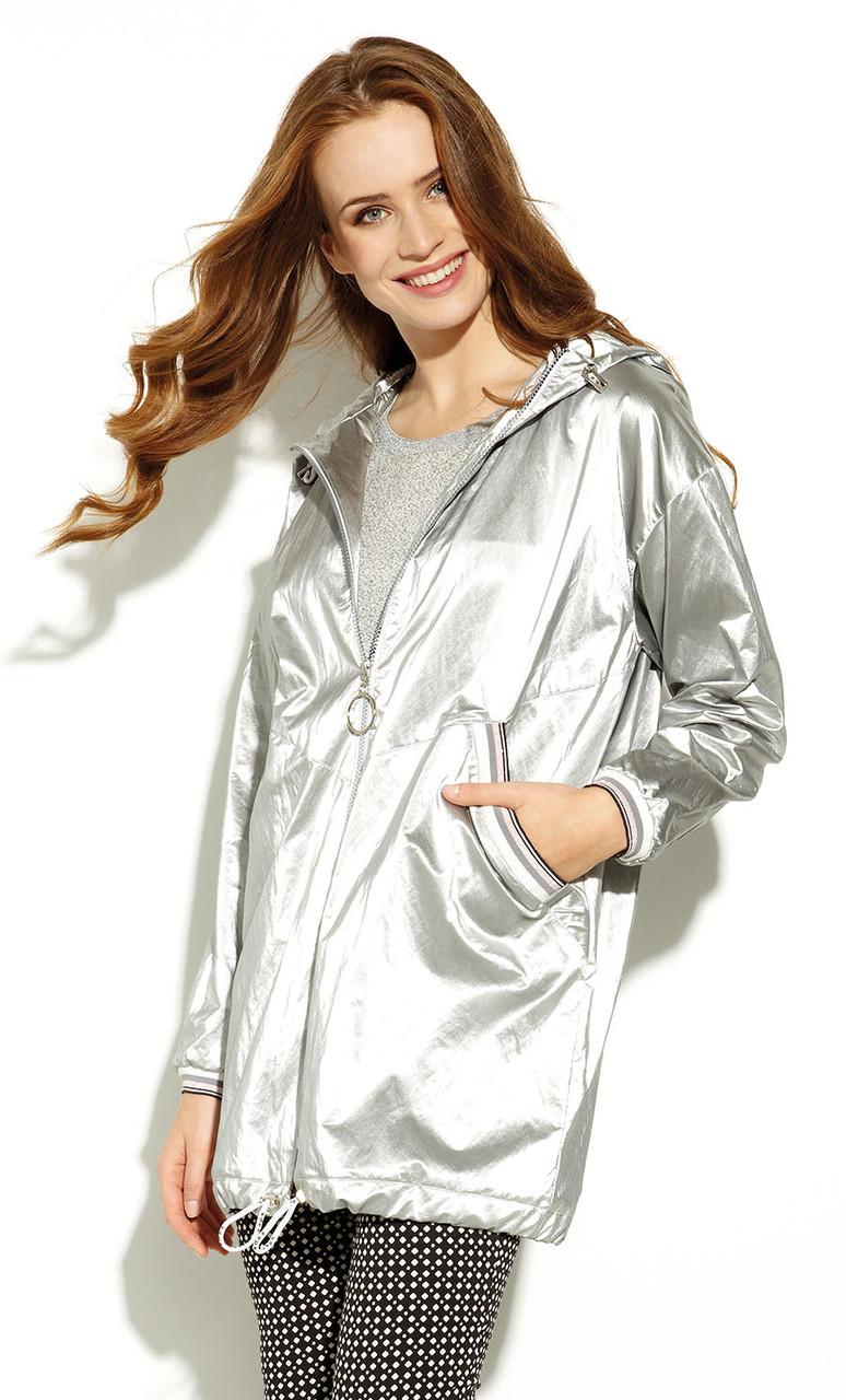 Женская куртка-парка Gusun Zaps серебристого цвета. Коллекция весна-лето 2020