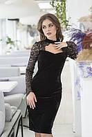 Бархатное вечернее приталенное платье, для вашей вечеринки  р.42,44,46,48 код 424А