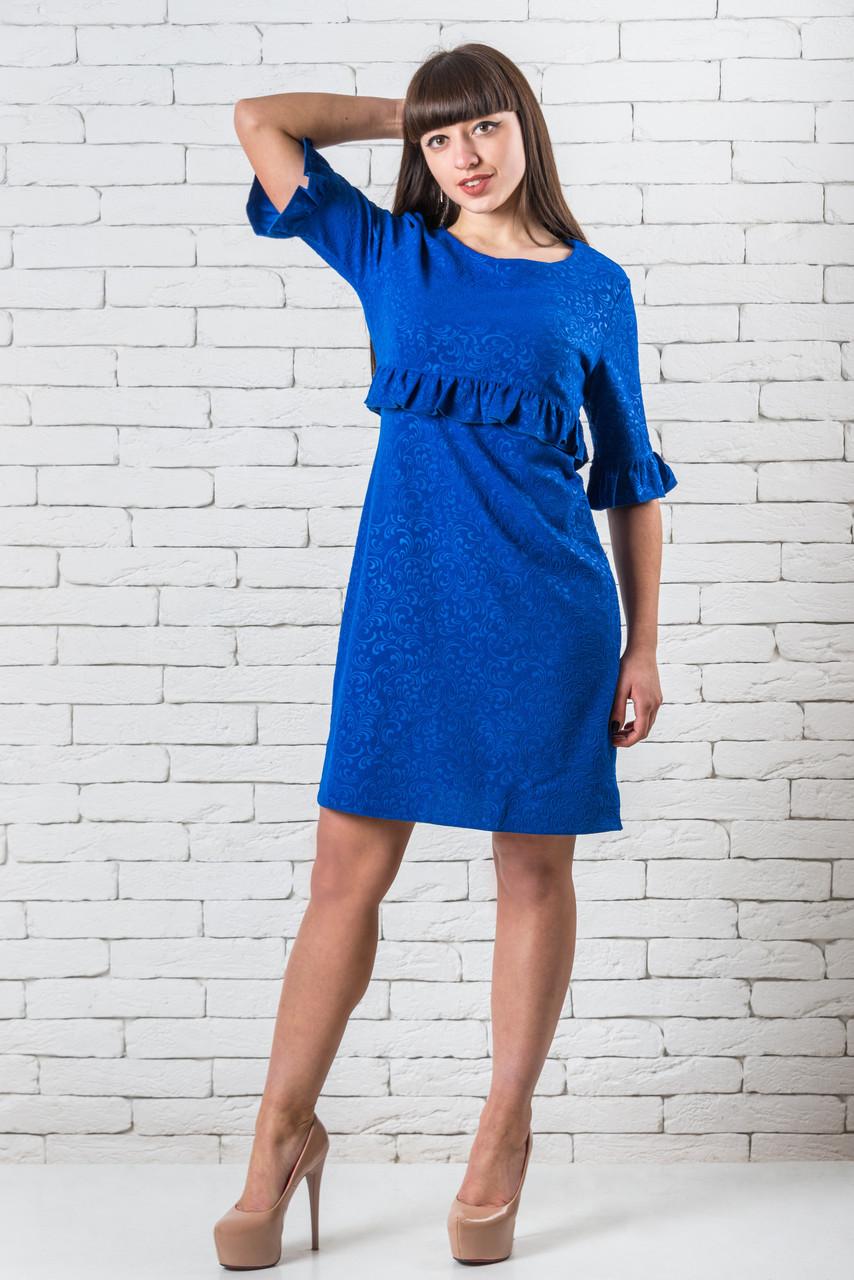 Повседневное платье женские от производителя  42-48 электрик