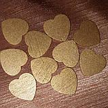 Набор из 10 деревянных сердечек для декора (золото), фото 2