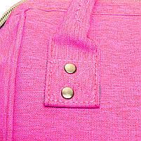 ☛Сумка для мам Maikunitu Mummy Bag Pink рюкзак-органайзер для прогулок вещей бутылочек термокарманы USB, фото 2