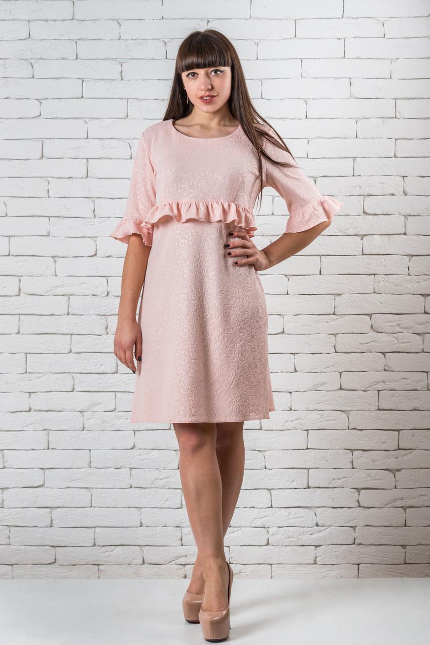 Модное платье  женское нежное  42-48 розовый