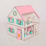 Кукольный домик NestWood Сказочный двухсторонний с подставкой для ЛОЛ без мебели (kdl009p), фото 2