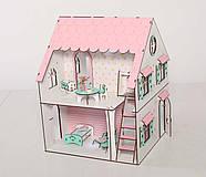 Кукольный домик NestWood Сказочный двухсторонний с подставкой для ЛОЛ без мебели (kdl009p), фото 3