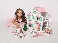 Кукольный домик NestWood Сказочный двухсторонний с подставкой для ЛОЛ без мебели (kdl009p), фото 4