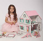 Кукольный домик NestWood Сказочный двухсторонний с подставкой для ЛОЛ без мебели (kdl009p), фото 5