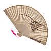 Ручной деревянный веер с цветком (С1057)