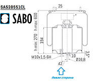 Пневмоподушка DAF XF106 1882447 899NP03L SA520551CL  Sabo, фото 1