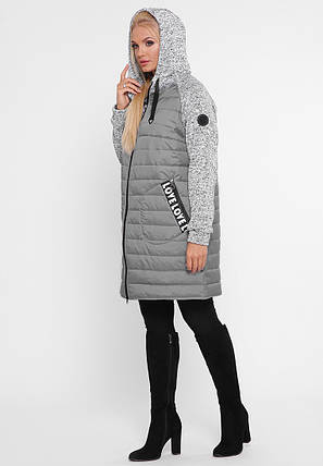 Куртка демисезонная Амалия серый, фото 2