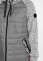 Куртка демисезонная Амалия серый, фото 3
