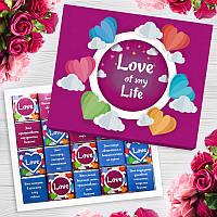 Шоколадный набор LOVE OF MY LIFE 20 шоколадок