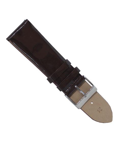Ремешок для часов кожаный лаковый размер 24 мм