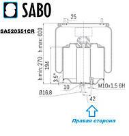Пневмоподушка DAF XF106 1914444 899NP03R SA520551CR  Sabo, фото 1