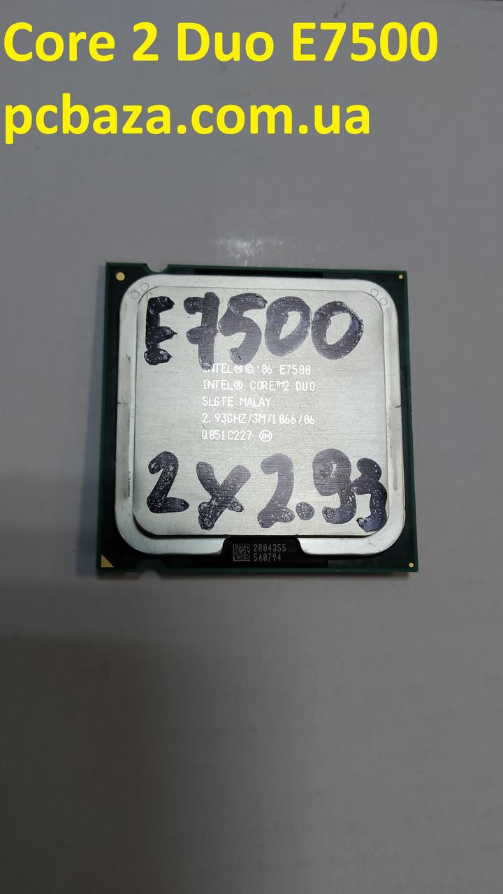 Процессор s775 Intel Core 2 Duo E7500 2.93 Рабочий, без дефектов
