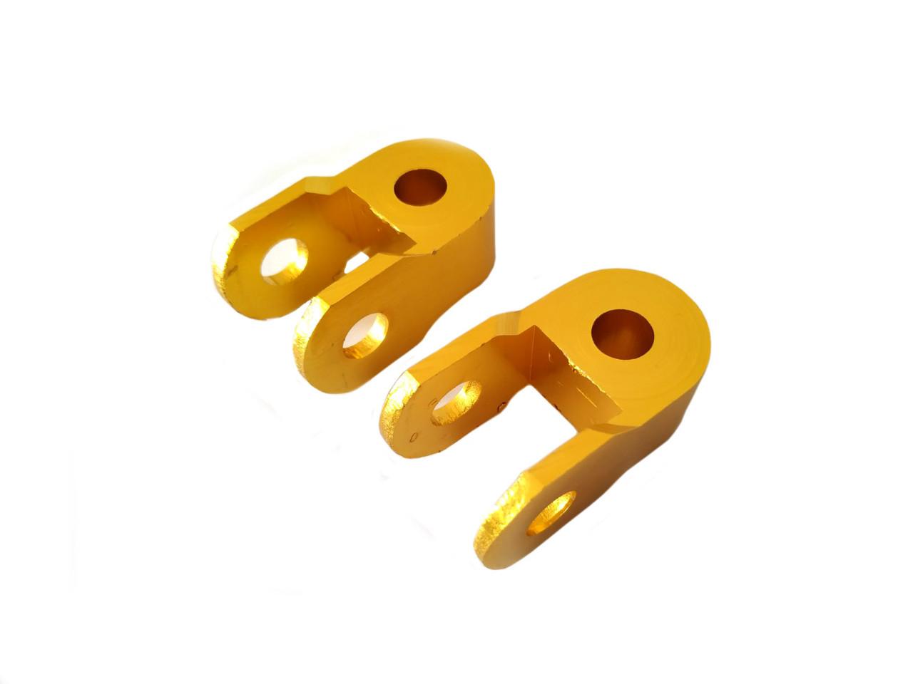 Продовжувачі (удлинители) амортизатора (пара) 3см, Ø10мм (жовті) RIDE
