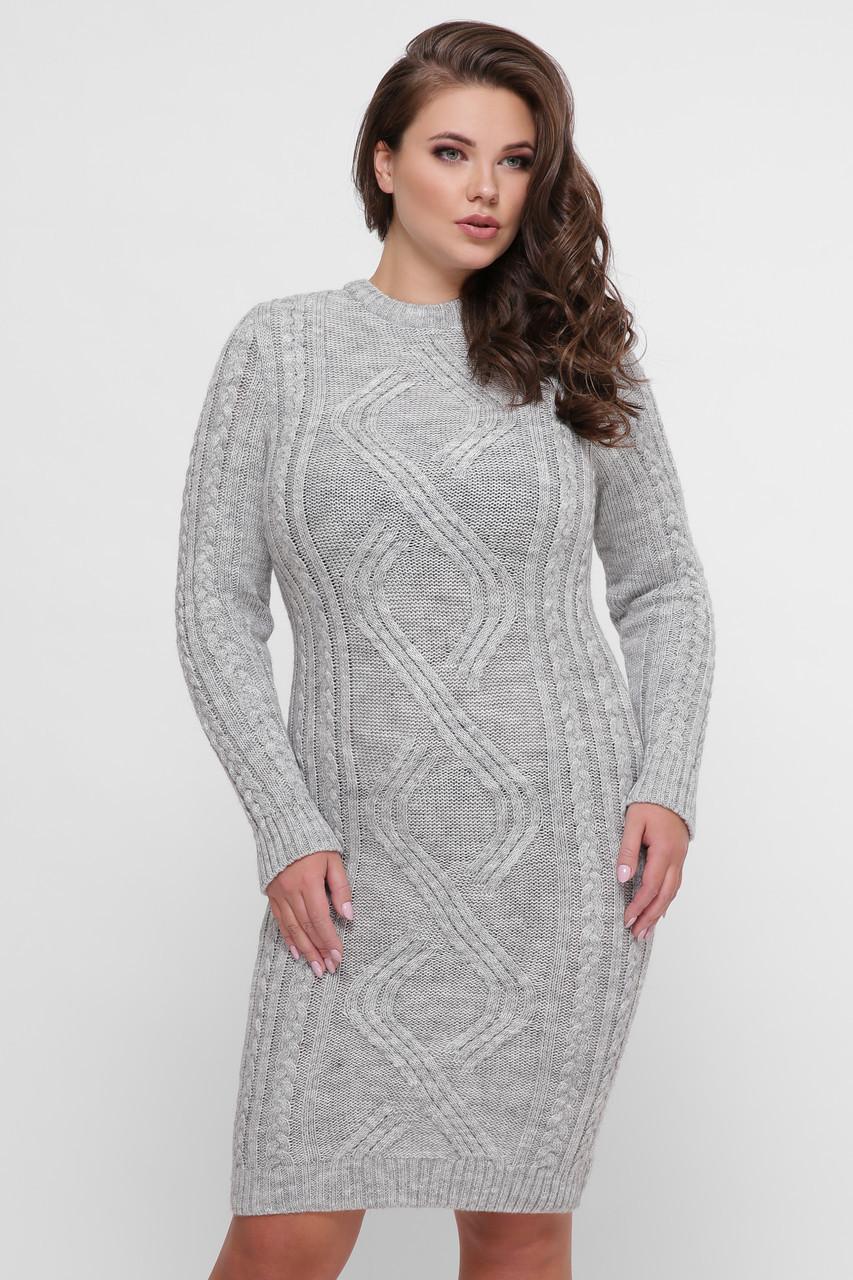 Платье орнамент серое