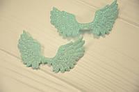 Крылья бирюзовые для заколок и обручей 7*4,3 см.
