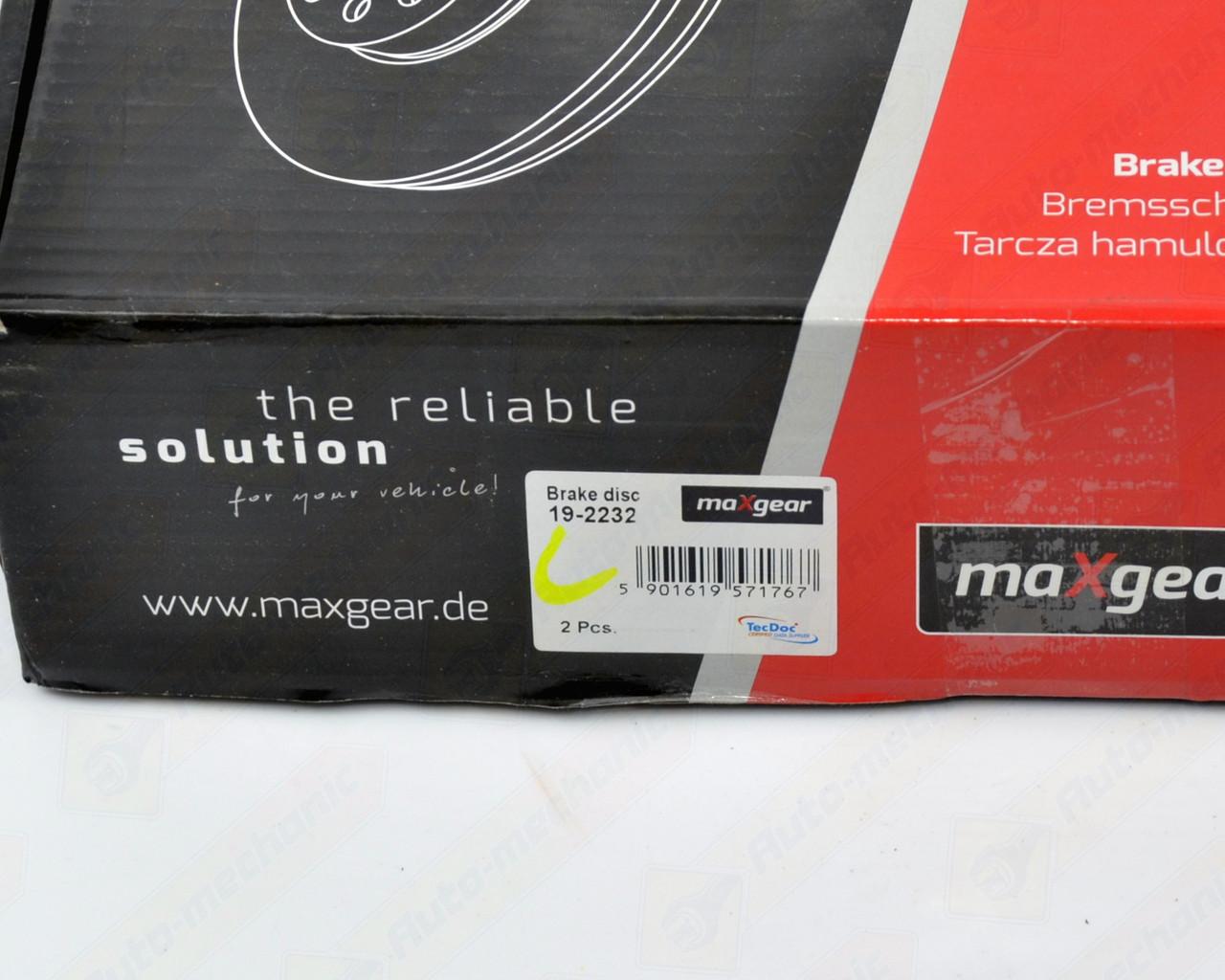 Тормозной диск передний 258mm. R14 на Renault Kangoo II 2008-> - MaxGear (Польша) - MG19-2232
