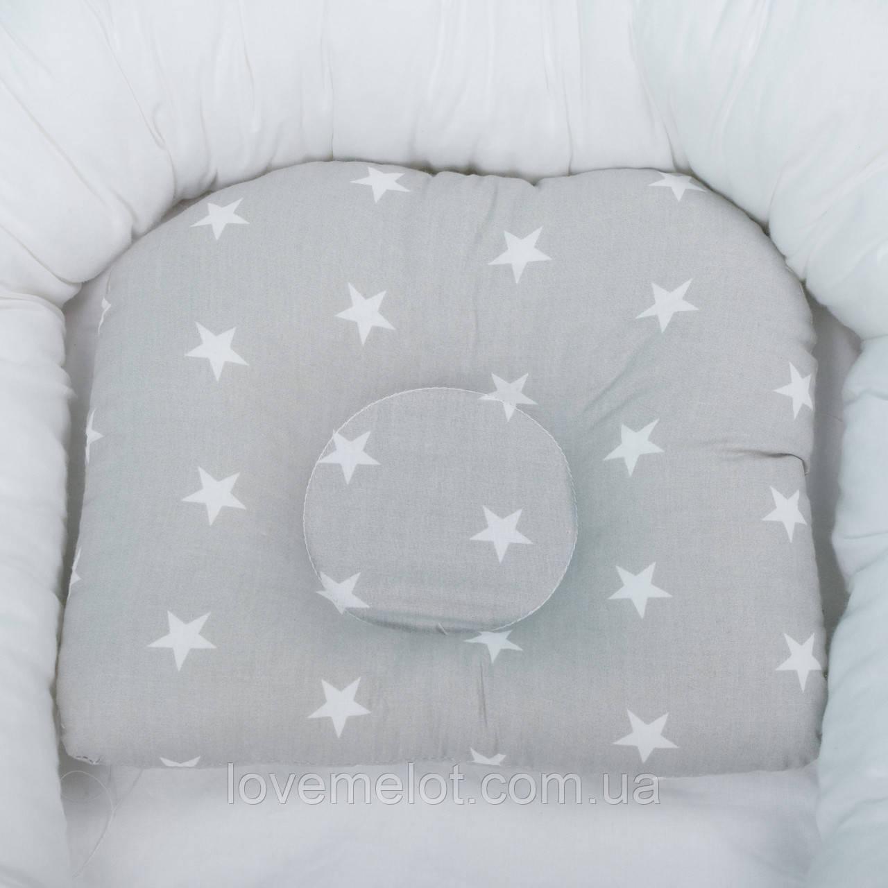Подушка для новорожденных, детская подушка ортопедическая, подушка в кроватку, подушка в коляску