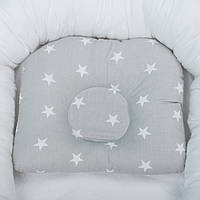 Подушка для новорожденных, детская подушка ортопедическая, подушка в кроватку, подушка в коляску, фото 1