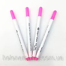Розовый маркер для ткани, исчезает при контакте с водой