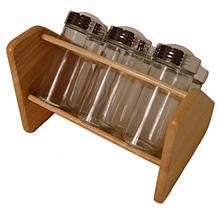 Набор для специй с деревянной подставкой Stenson MS-0368 Simply, 6 предметов, фото 3