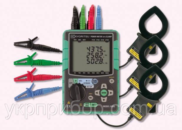 Kyoritsu KEW Model 6300-01 - Компактный измеритель мощности в комплекте с клещевыми адаптерами (Ø40, 500А - 3ш