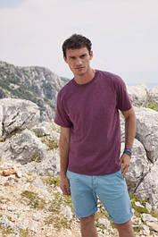 Однотонные мужские хлопковые футболки (61-036-0)